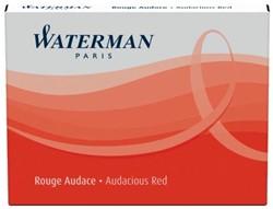 Waterman inktpatronen Standard rood, pak van 6 stuks