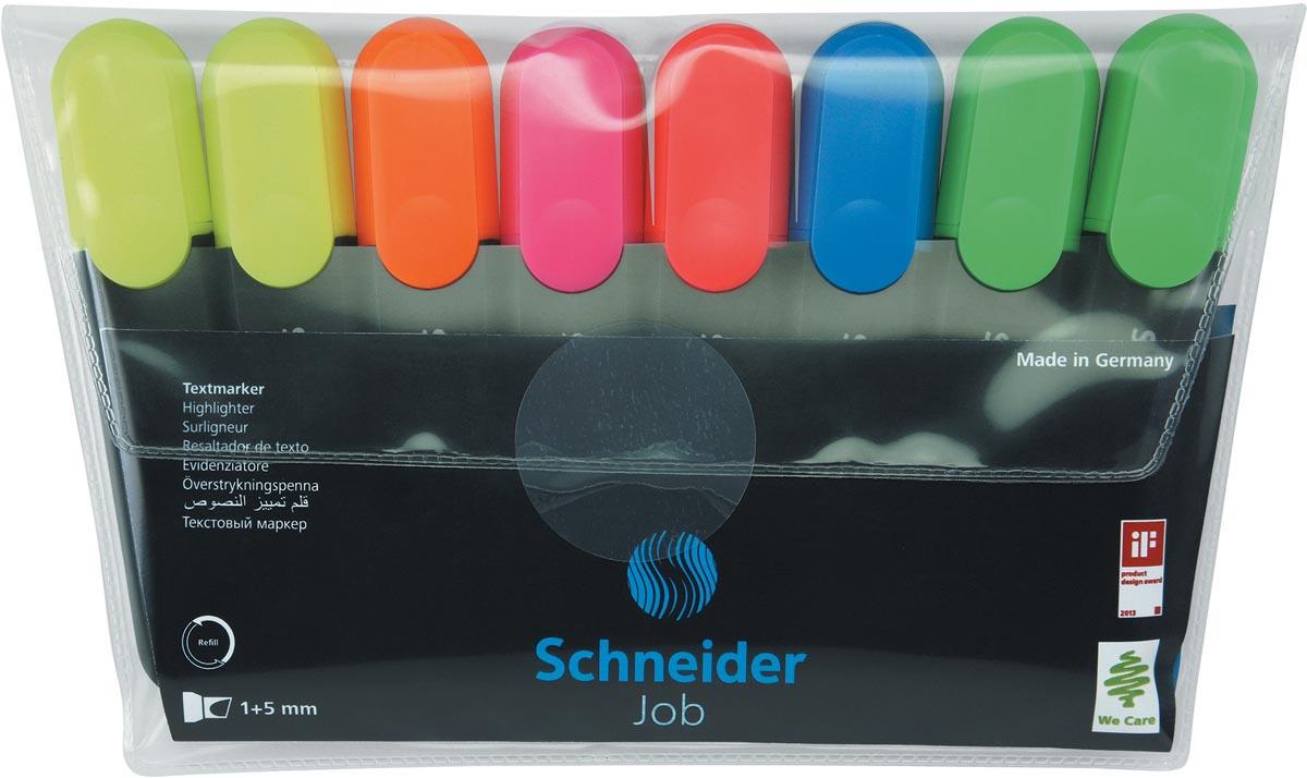 Schneider markeerstift Job 150, etui van 6 stuks in geassorteerde pastelkleuren