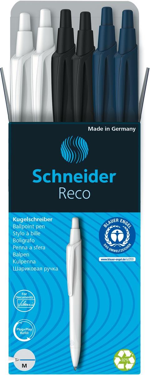 Schneider Reco balpen, 6 stuks, assorti