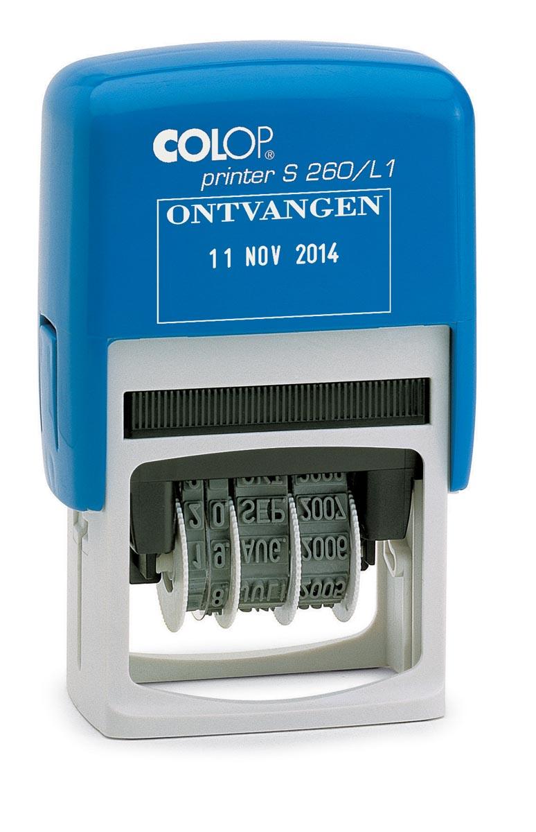 Colop tekststempel met datum Printer tekst: ONTVANGEN
