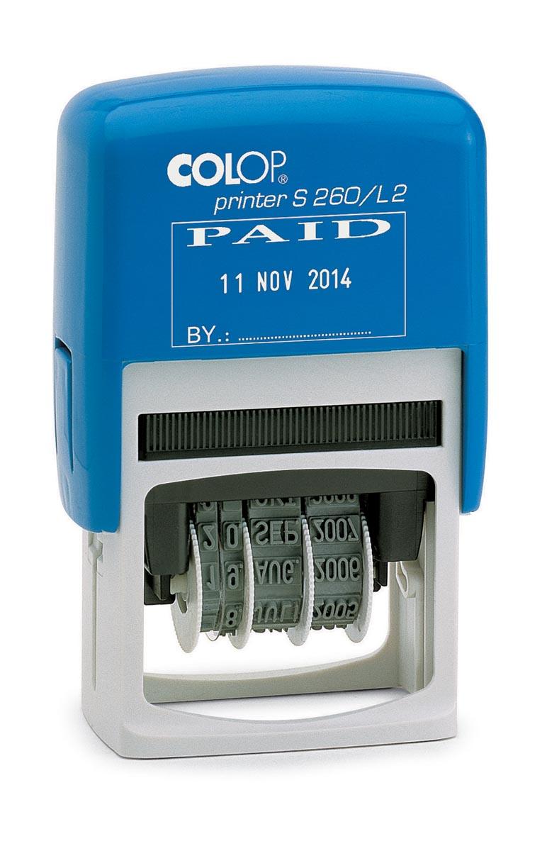 Colop tekststempel met datum Printer tekst: PAYE LE