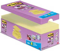 Post-it Z-Notes voordeelpak geel, 14+6 GRATIS