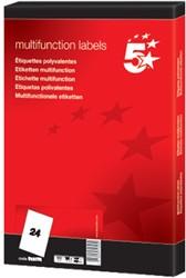 5Star witte etiketten ft 64,6 x 33,8 mm (b x h), 24 blad, rechte hoeken