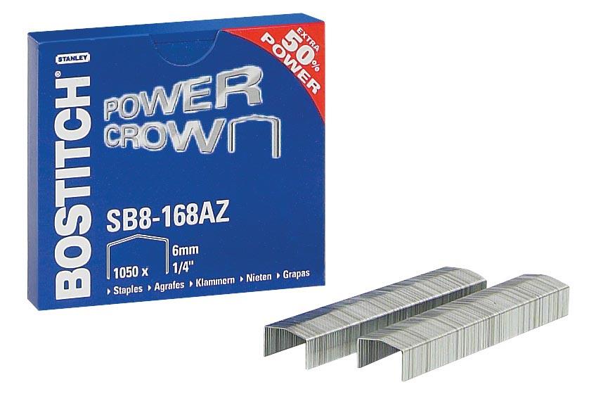 Bostitch nietjes voor B8R, B8HC, B8E, B8HDP en B8P, doos van 1.050 nietjes SB8-168E (6 mm)
