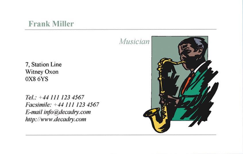 Decadry visitekaarten MicroLine ft 85 x 54 mm, 185 g/m�, 180 kaartjes