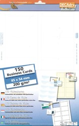 Decadry Cartes De Visite MicroLine Ft 85 X 54 Mm 200 G M