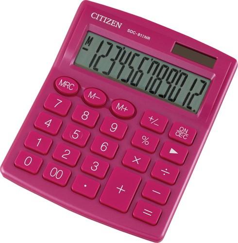 Citizen bureaurekenmachine SDC-812, roze