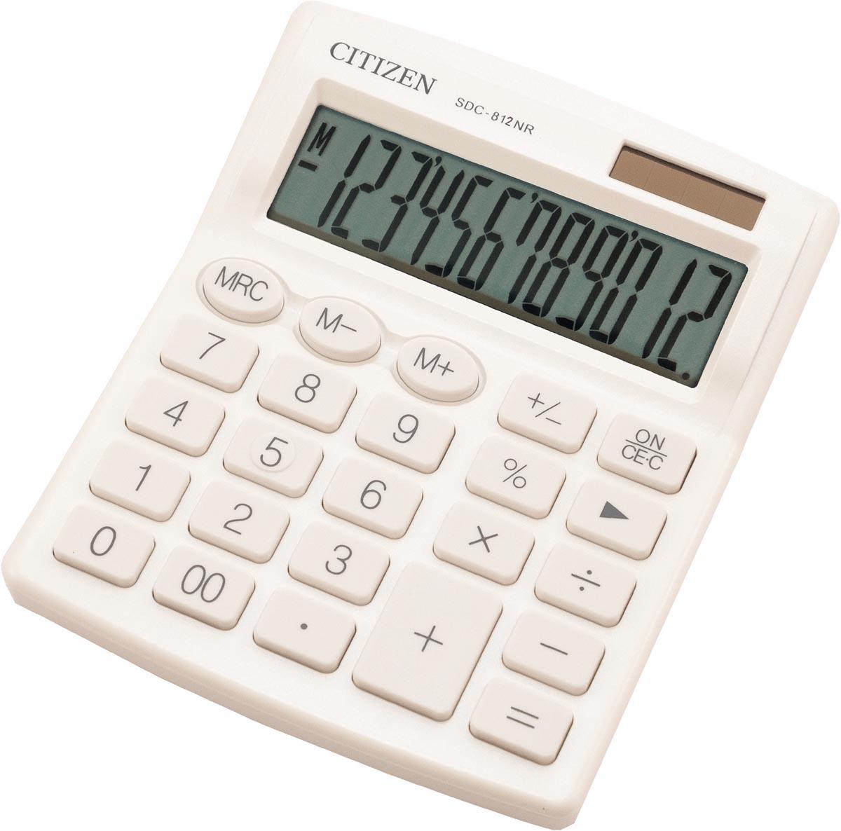 Citizen bureaurekenmachine SDC-812, wit