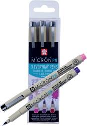Sakura fineliner Pigma Micron PN, Craftfs set van 3 stuks in geassorteerde kleuren