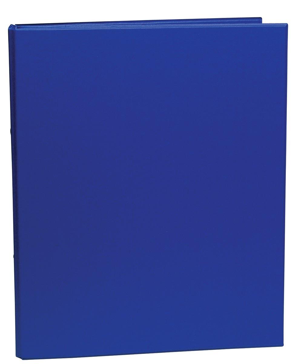 Ringmap voor ft A4, 2 ringen van 25 mm, uit PVC, blauw