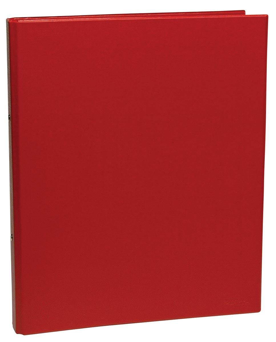 Ringmap voor ft A4, 2 ringen van 25 mm, uit PVC, rood