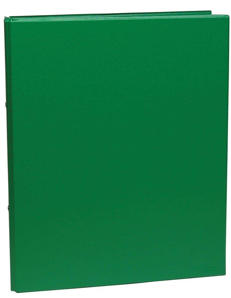 Ringmap voor ft A4, 2 ringen van 25 mm, uit PVC, groen