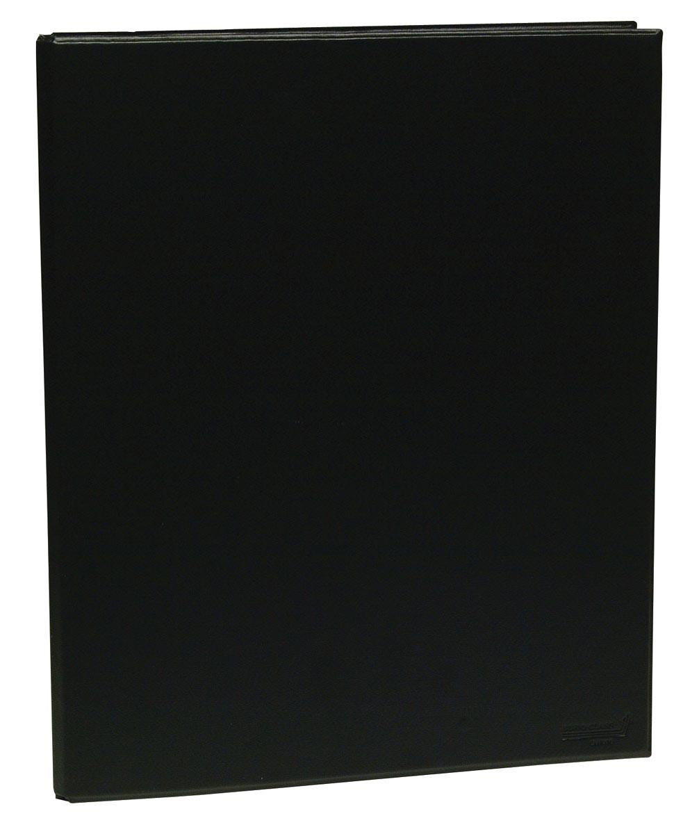 Ringmap voor ft A4, 4 ringen van 25 mm, uit PVC, zwart