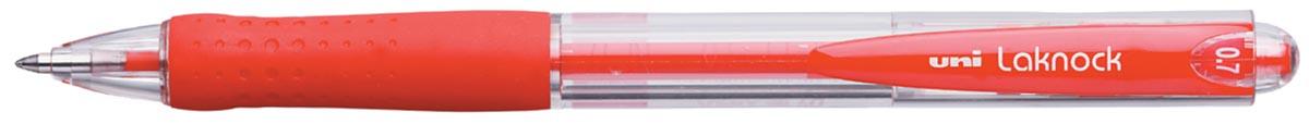 Uni-ball balpennen Laknock schrijfbreedte 0,3 mm, schrijfpunt: 0,7 mm, fijne punt, rood