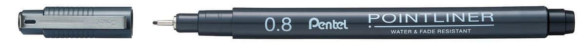 Pentel fineliner Pointliner SP20, zwart, 0,80 mm