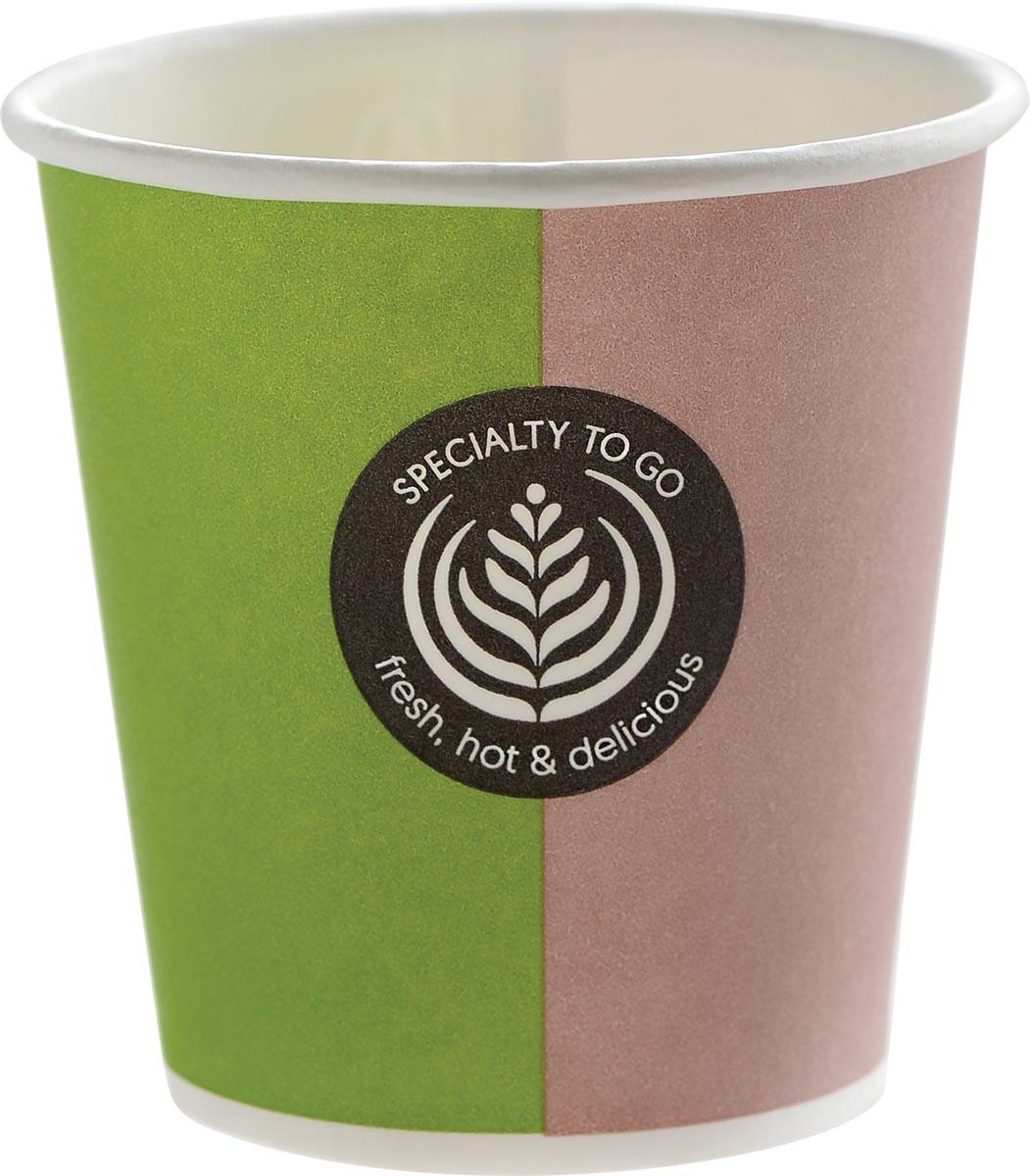 Drinkbeker Coffee To Go, uit karton, 100 ml, diameter 62,5 mm, pak van 80 stuks