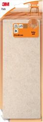3M beschermende vloerpads, uit vilt, ft 21,5 x 8 cm, blisterverpakking
