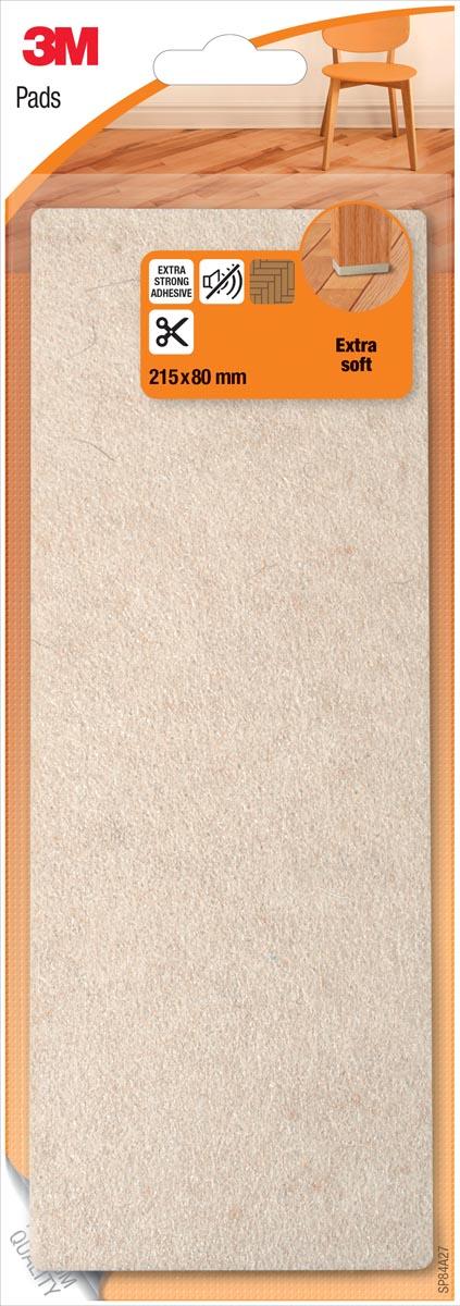 3M beschermende vloerpad, uit vilt, ft 21,5 x 8 cm