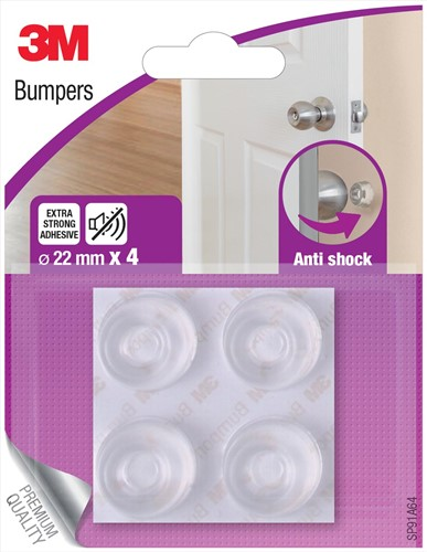 3M Bumpers, Anti shock, 22 mm, blister van 4 stuks