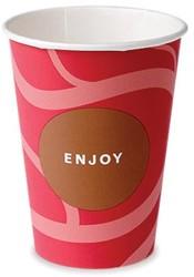 Drinkbeker Enjoy, uit karton, 180 ml, diameter 70,3 mm, pak van 100 stuks