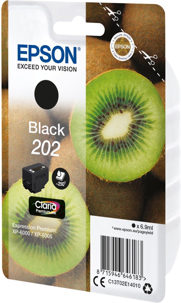 Epson inktcartridge 202, 250 pagina's, OEM C13T02E14010, zwart
