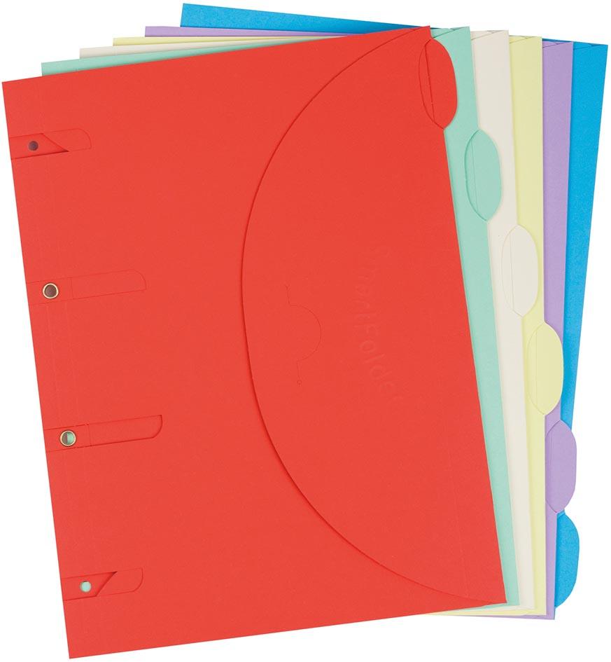 Tarifold smartfolder, geperforeerde showtas, geassorteerde kleuren, pak van 6 stuks