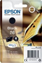 Epson inktcartridge 16 zwart, 175 pagina's - OEM: C13T16214012