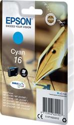 Epson inktcartridge 16 cyaan, 165 pagina's - OEM: C13T16224012