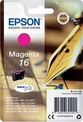 Epson inktcartridge 16 magenta, 165 pagina's - OEM: C13T16234012