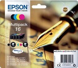 Epson inktcartridge 16, 4 kleuren, 165-175 pagina's - OEM: C13T16264012