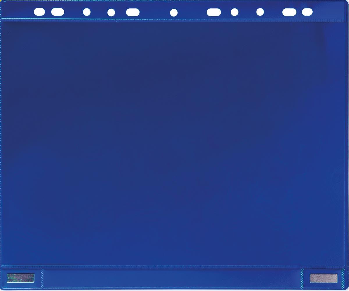 Tarifold geperforeerde showtas, dubbelzijdig magnetisch, blauw, pak van 5 stuks