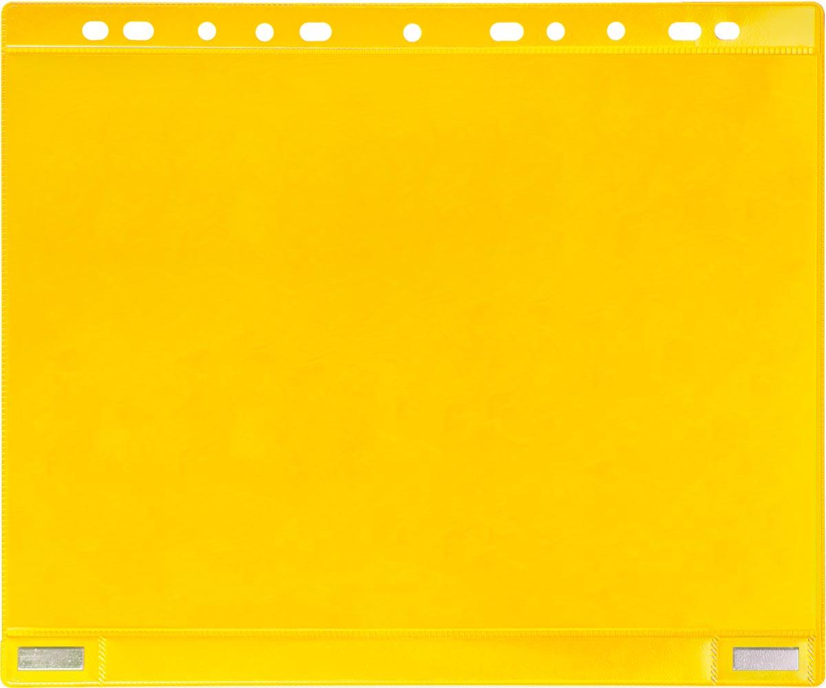 Tarifold geperforeerde showtas, dubbelzijdig magnetisch, geel, pak van 5 stuks