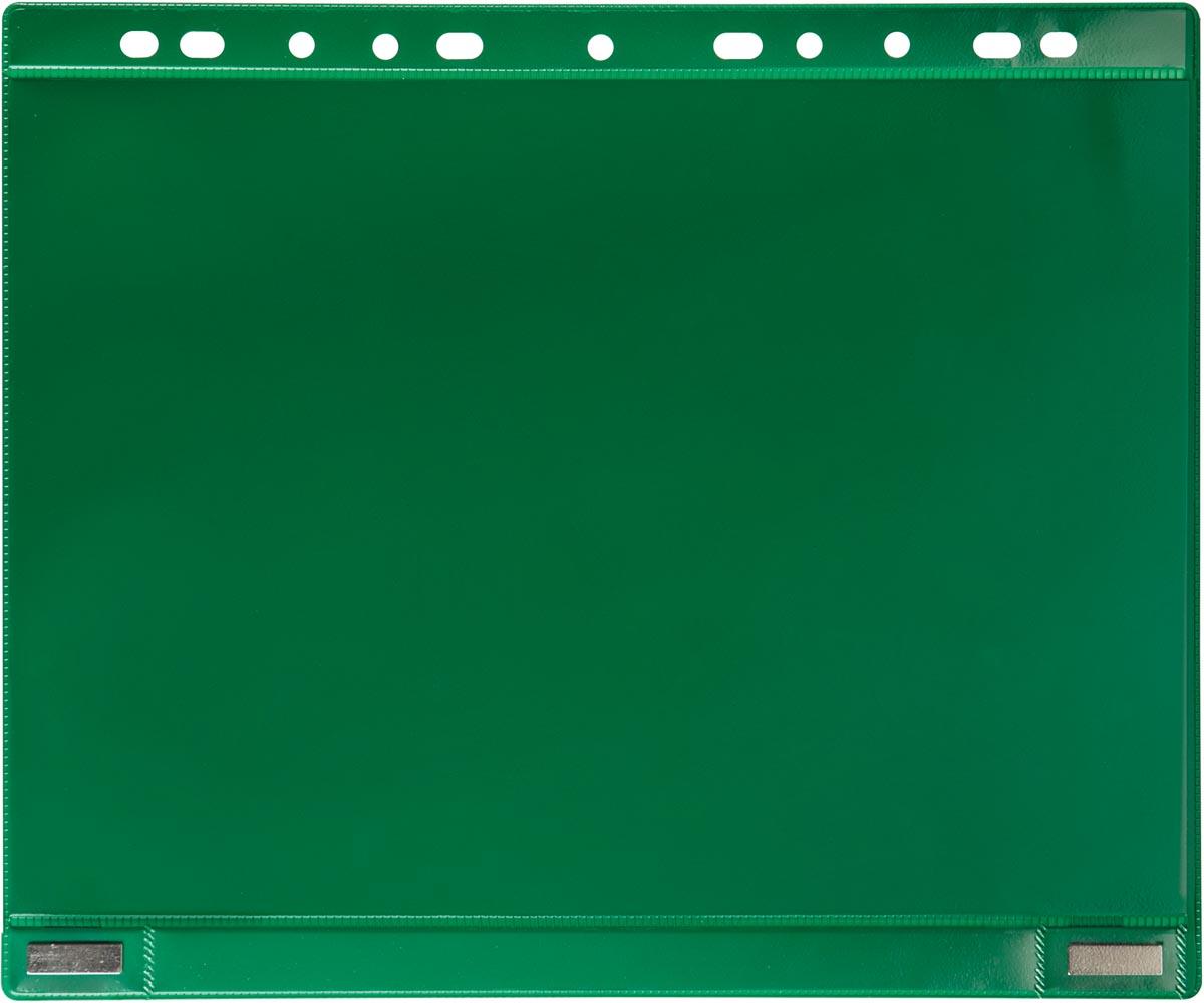 Tarifold geperforeerde showtas, dubbelzijdig magnetisch, groen, pak van 5 stuks