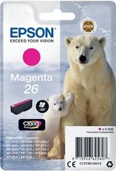 Epson inktcartridge 26 magenta, 300 pagina's - OEM: C13T26134012