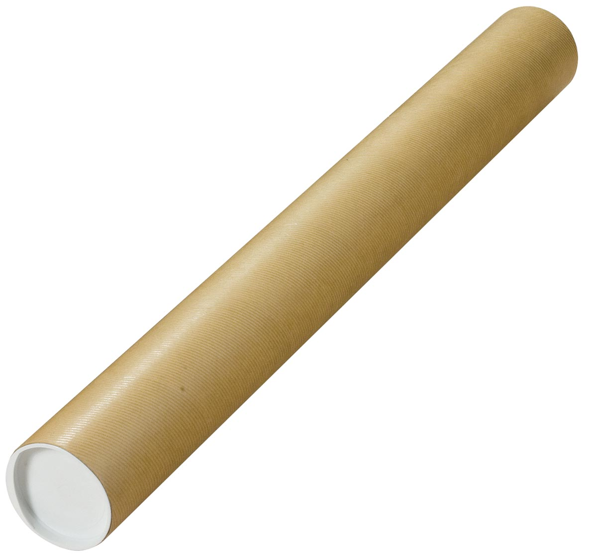 Verzendkoker, ft 75 x 8 cm, bruin
