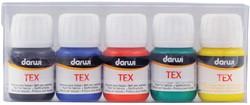 Darwi textielverf Tex etui van 5 flacons
