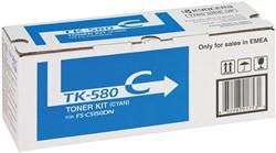 Kyocera Toner cyaan TK580C - 2800 pagina's - 1T02KTCNL0
