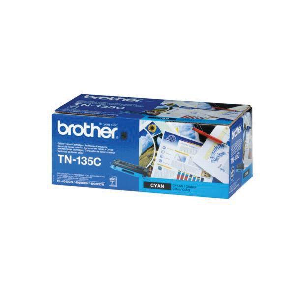 Brother toner, 4.000 pagina's, OEM TN-135C, cyaan
