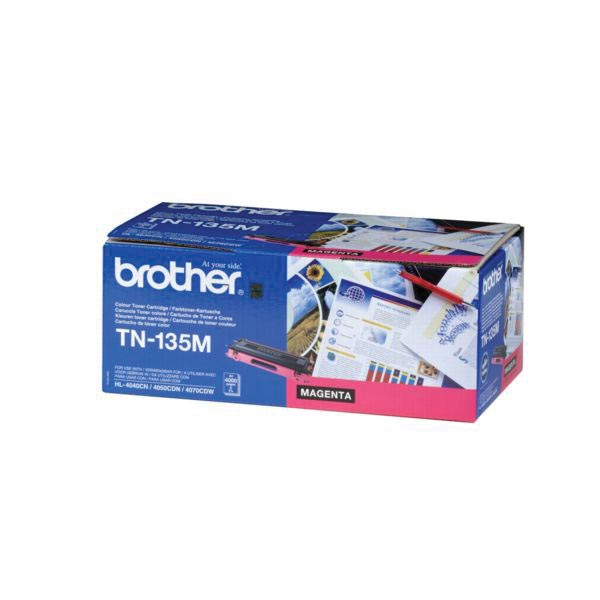 Brother toner, 4.000 pagina's, OEM TN135M, magenta