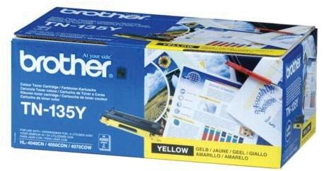 Brother Toner geel - 4000 pagina's - TN135Y