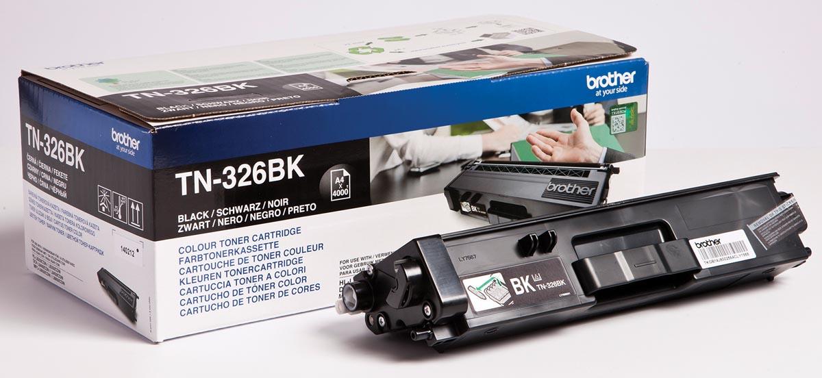 Brother Toner Kit zwart - 4000 pagina's - TN326BK