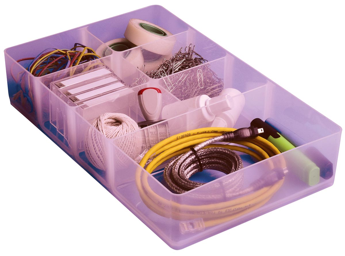 Really Useful Box, divider met 7 vakjes voor 9 liter, transparant