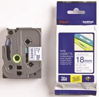 Brother TZe tape voor P-Touch 18 mm, blauw op wit-2