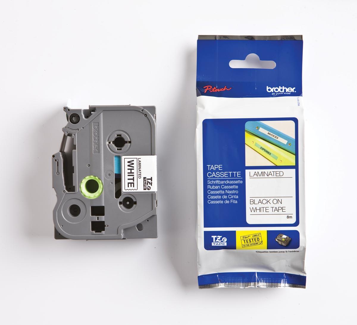 Brother TZe tape voor P-Touch 36 mm, zwart op wit