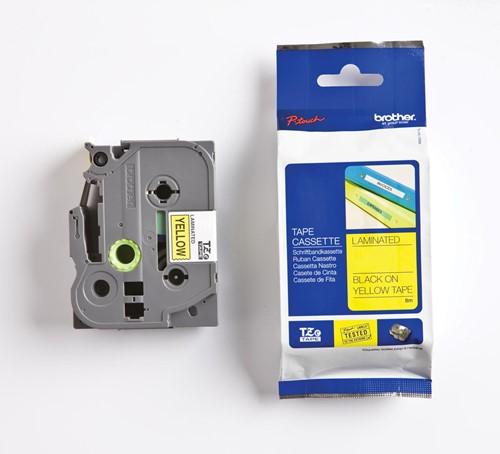 Brother TZe tape voor P-Touch 36 mm, zwart op geel