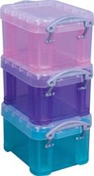 Really Useful Box 0,14 liter, geassorteerde kleuren, pak van 3 stuks