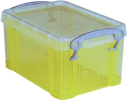Really Useful Box 0,3 liter visitekaarthouder, transparant geel