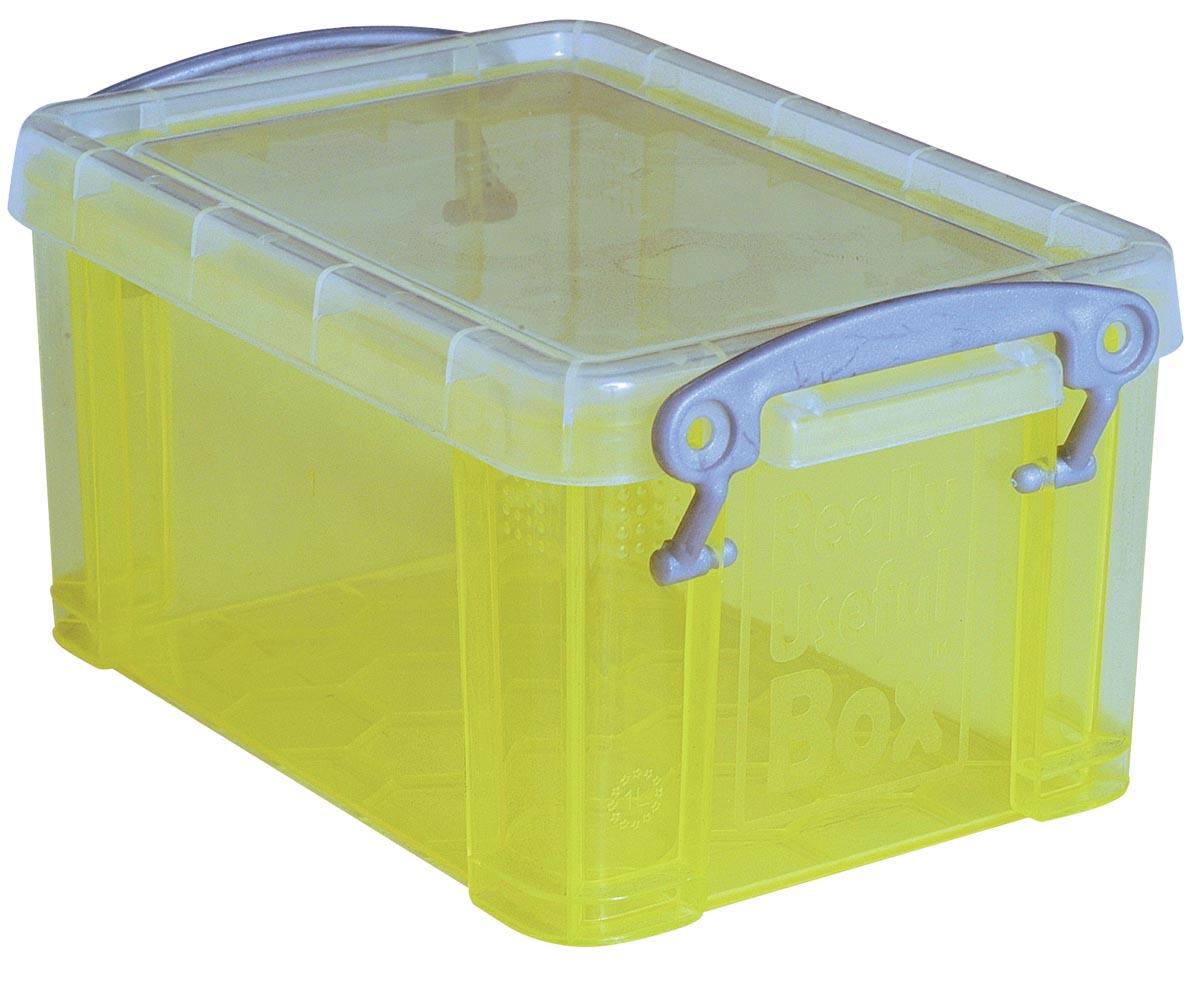 Really Useful Box 0,3 liter visitekaarthouder, transparant geel