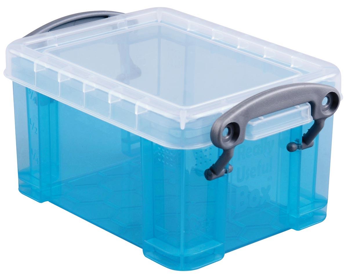 Really Useful Box 0,3 liter visitekaarthouder, helblauw
