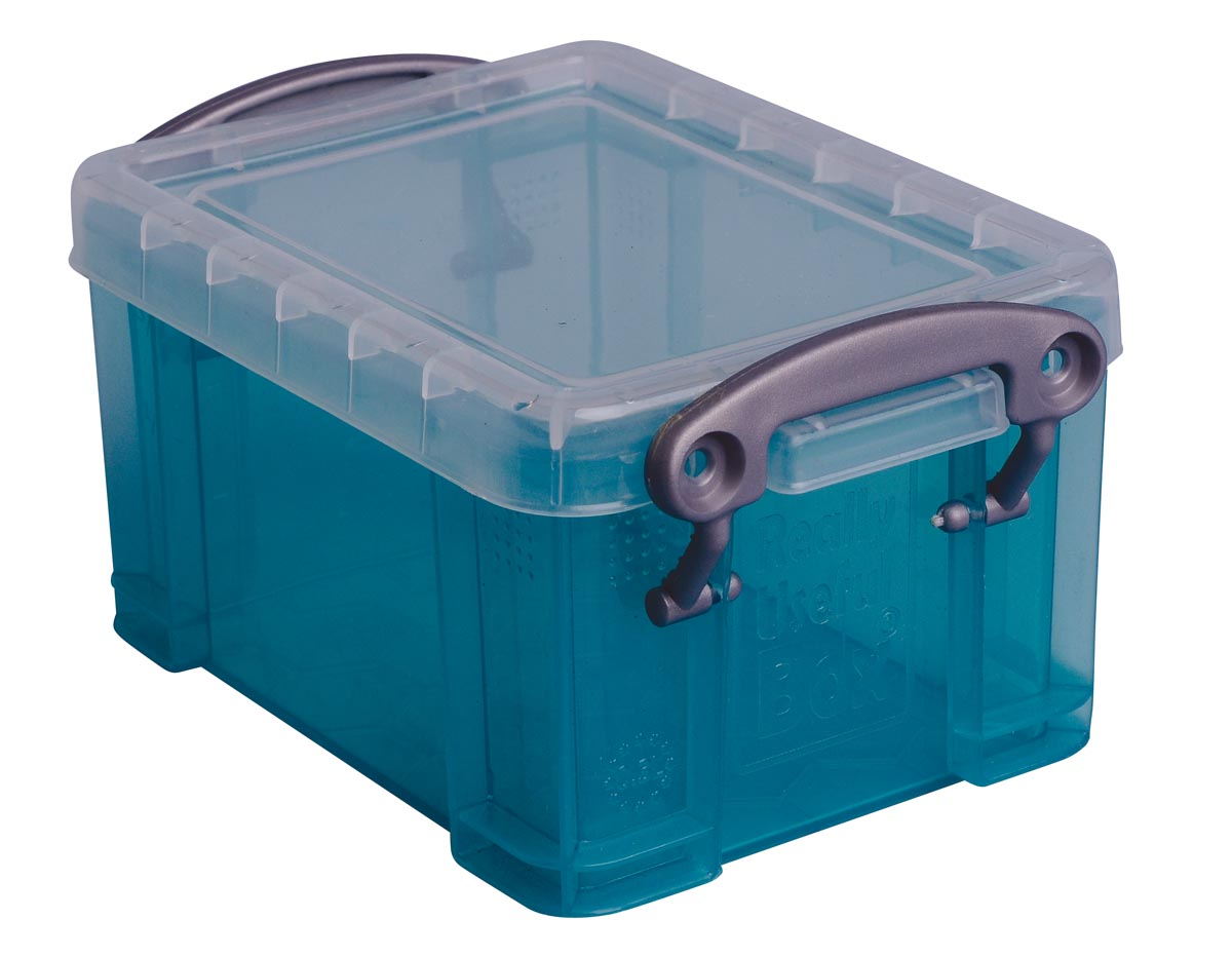 Really Useful Box 0,3 liter visitekaarthouder, transparant groen